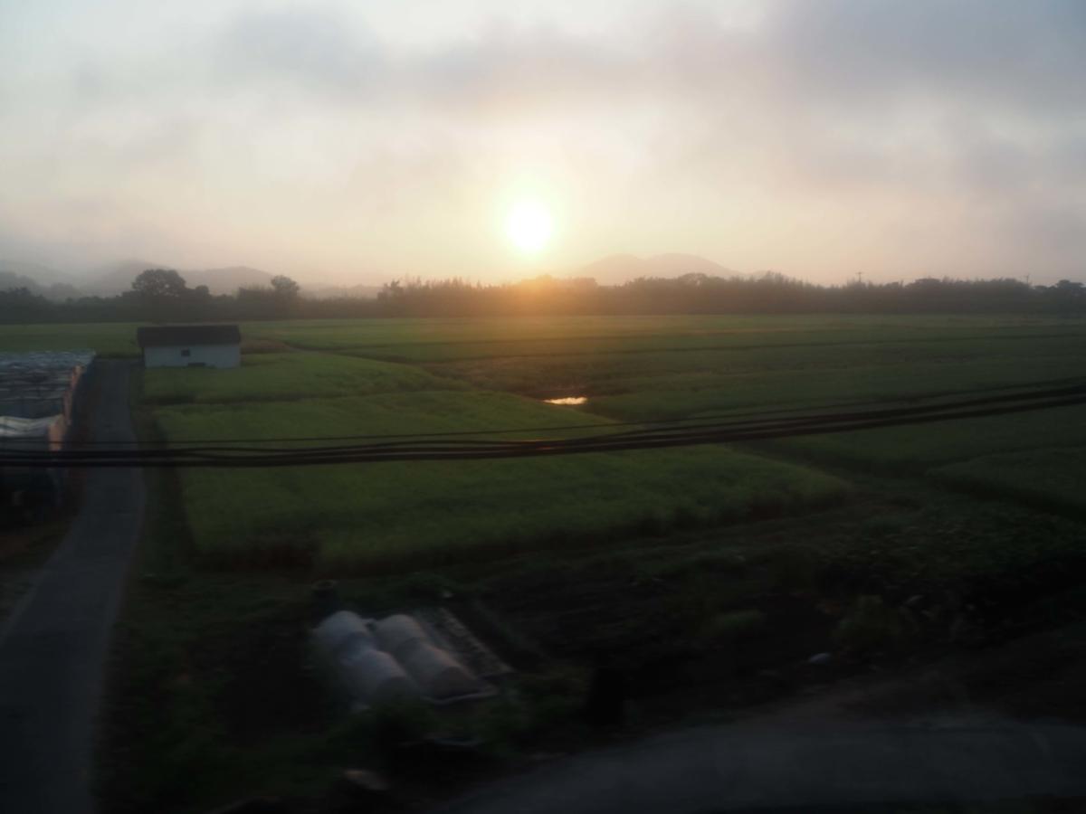 岡山付近で見た日の出