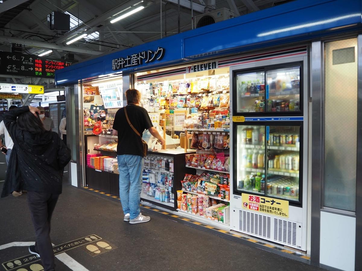 岡山駅の売店