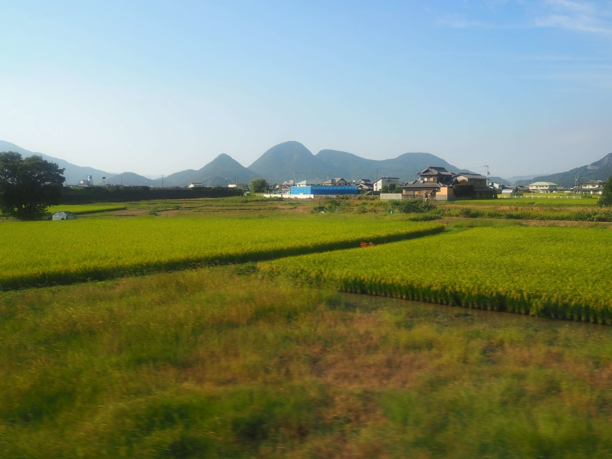 四国らしい田園風景