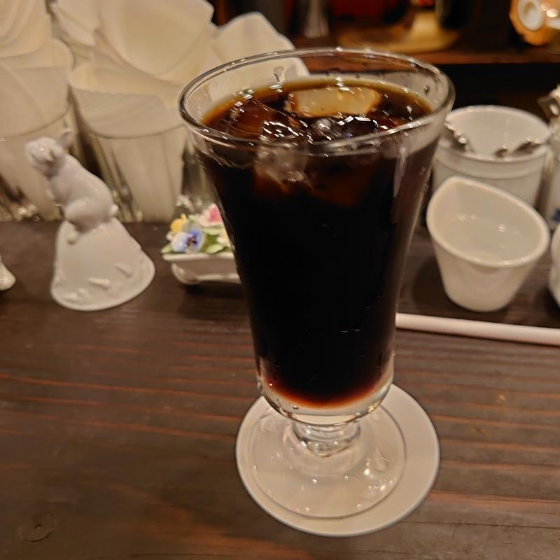 渋谷某喫茶店のアイスコーヒー