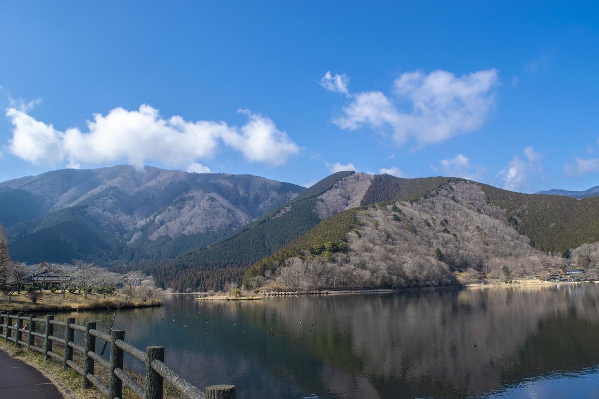 山に囲まれた景色が良い田貫湖