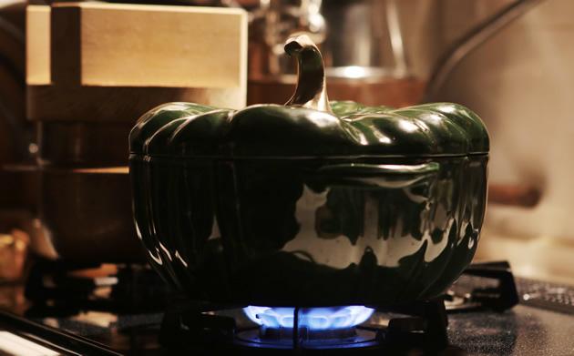 Staub Pumpkin Cocotte Baisl Green / パンプキンココット バジルグリーン