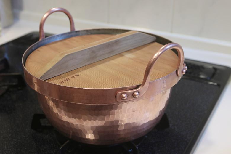 有次の銅段付き鍋