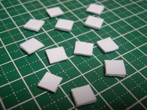 【ミニチュアフード】小さい角皿を大量に作る方法