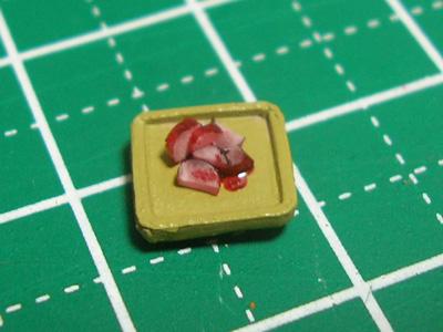 【ミニチュアフード】柴漬け(紫葉漬け)の作り方