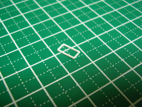 【ミニチュアフード】角丸長方形のお皿の作り方