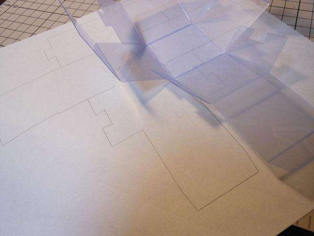 ミニチュア梱包用にクリアケースを自作する