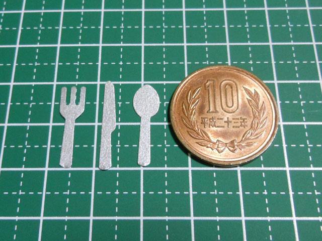 【ミニチュアフード】誰でも簡単にできるフォークとナイフの作り方