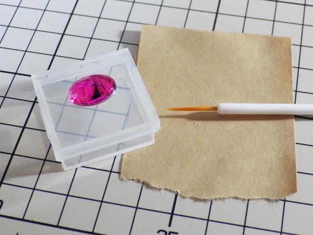 【ミニチュアフード】UVレジン液でプリンアラモードの皿を作る
