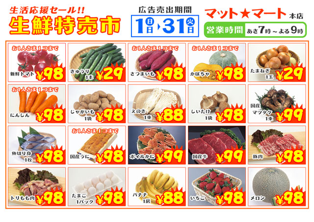 【ミニチュア小物】スーパーマーケットのチラシを作る