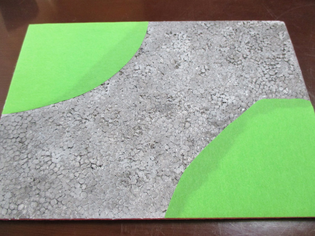 【ジオラマ】簡単な石畳(いしだたみ)の地面の作り方