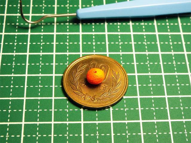 【ミニチュアフード】ミカンの作り方