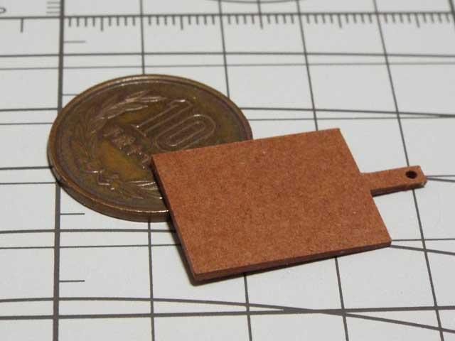 【ミニチュアフード】カッティングボードの作り方