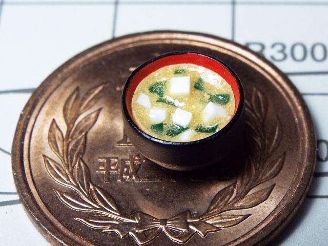 【ミニチュアフード】味噌汁(白味噌)の作り方