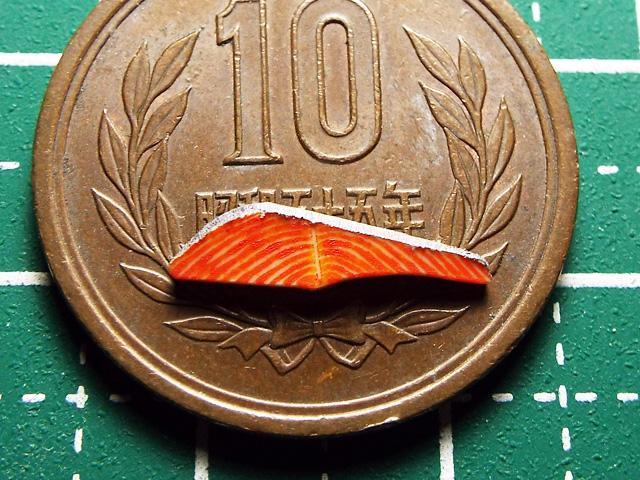 【ミニチュアフード】鮭の切り身の作り方