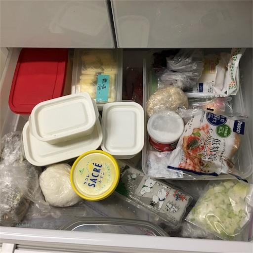 冷凍庫引き出し2上段ビフォー