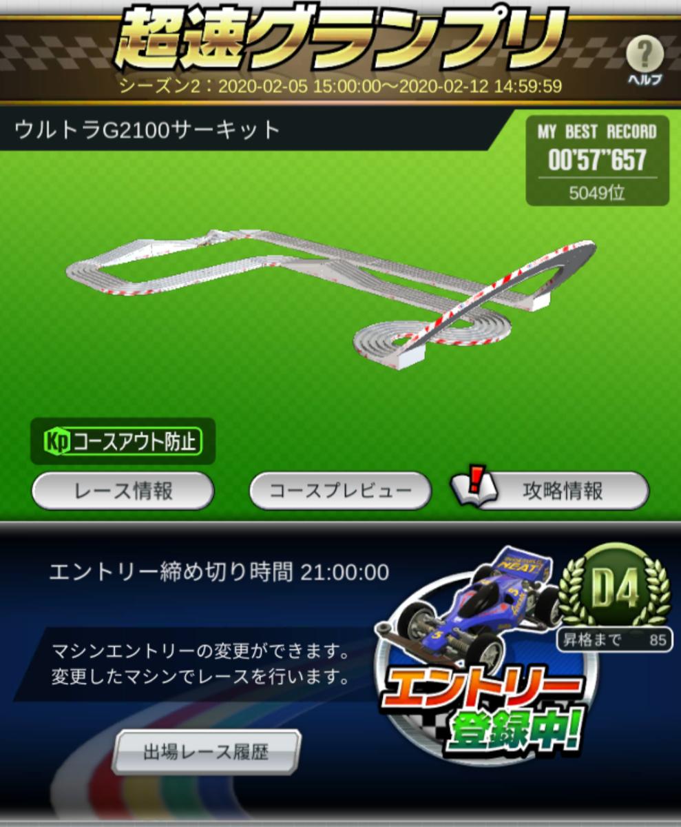 セッティング 超速 グランプリ