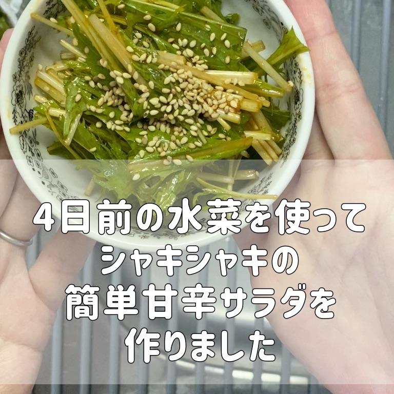 4日前の水菜を使って