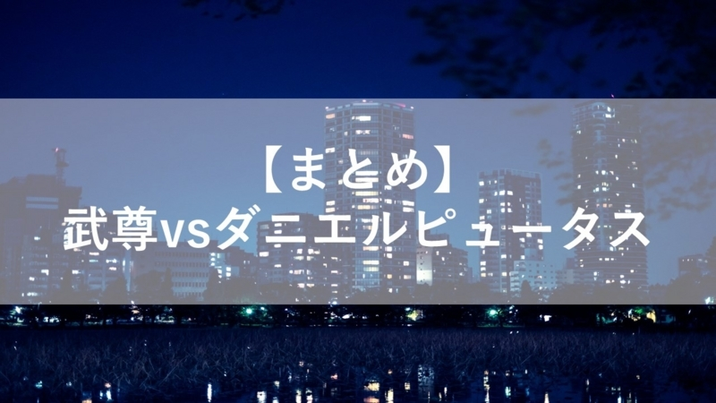 【まとめ】武尊vsダニエルピュータス