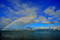 京都新聞写真コンテスト 琵琶湖レインボーブリッジ
