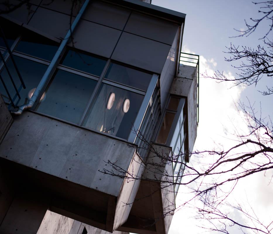 湘南平の展望台の建物