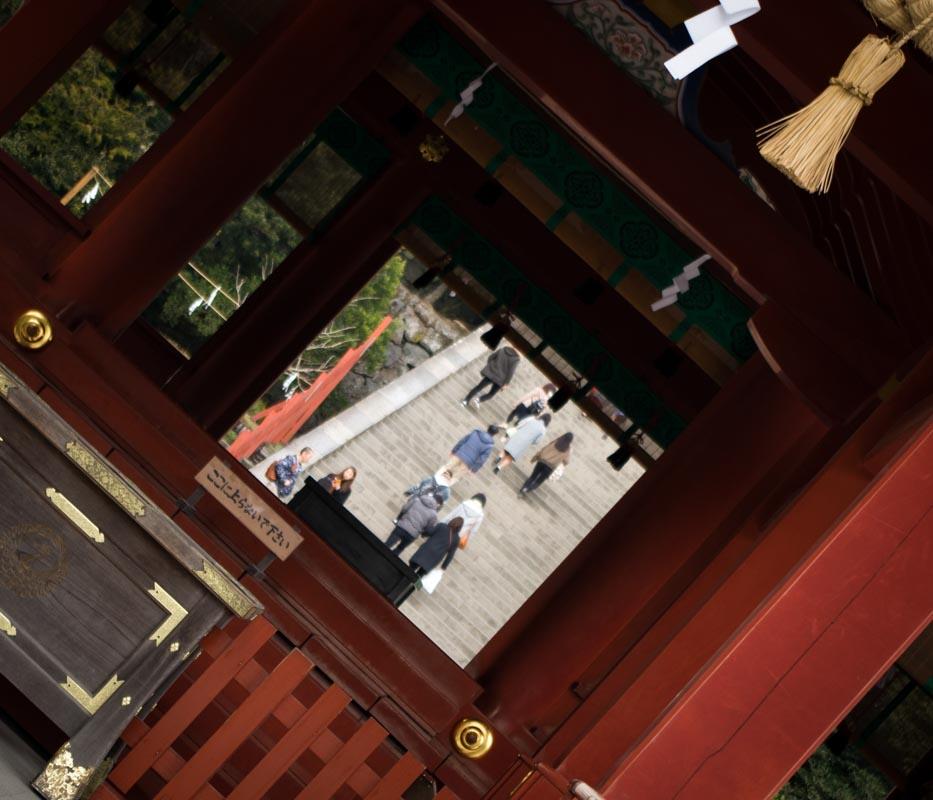 鶴岡八幡宮と源平池