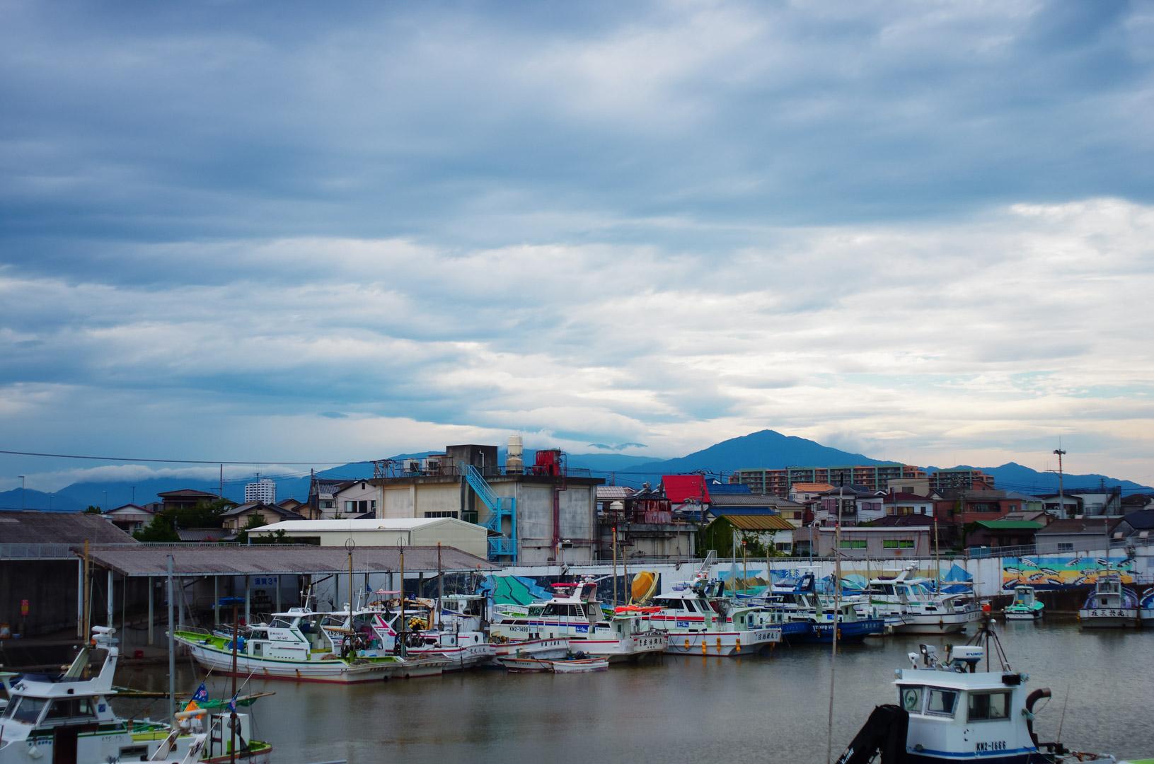 須賀の漁港(台風直後)