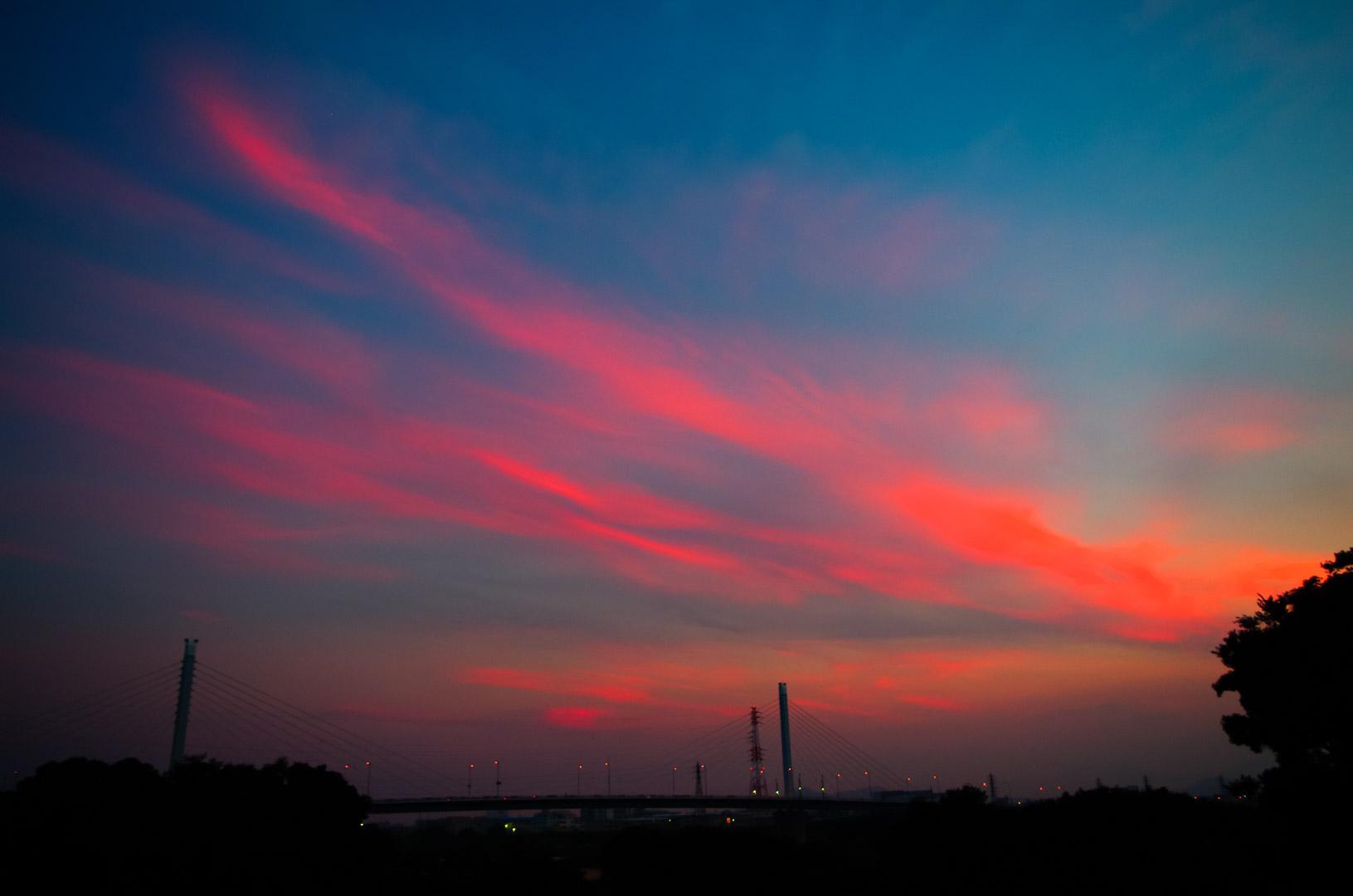 湘南銀河大橋と夕暮れ(2017年7月)