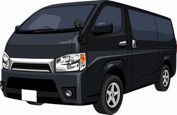 黒いワゴン車