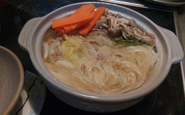 白菜と豚肉のミルフィーユ鍋(完成!)
