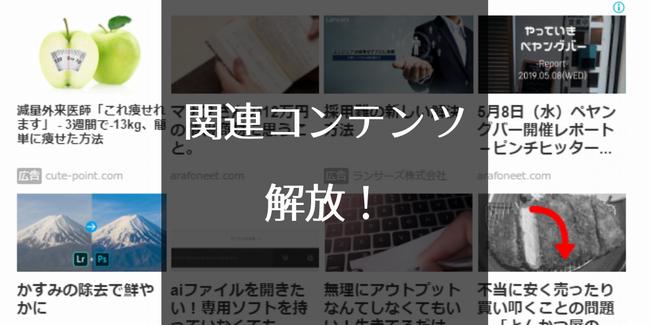 Googleアドセンスの関連コンテンツ解放!