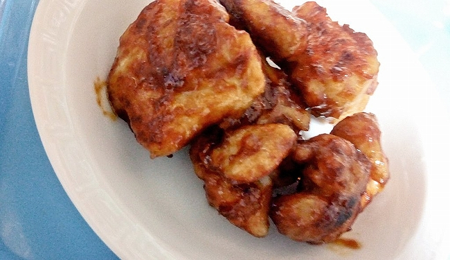 甘辛しっとり鶏むね肉のケチャップ風味
