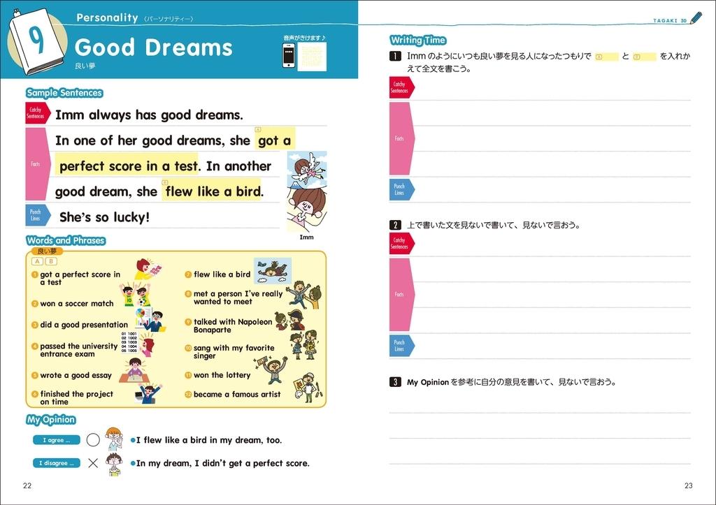 トピック:Good Dreams/どんな良い夢を見たことがある?