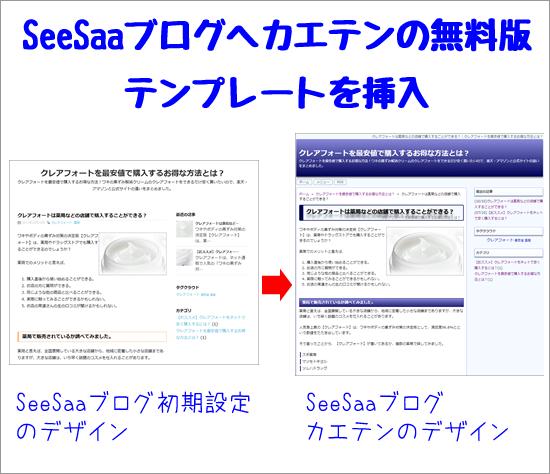 無料ブログ用テンプレート「カエテンクロス」無料体験版ダウンロード