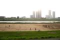 河川敷のサッカーグラウンド