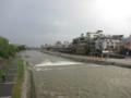 増水の鴨川