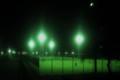 夜のテニス