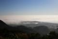 朝霧の相模湾