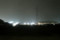 雨の夜の鉄塔