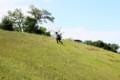 旭川 斜面を登る人