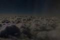月下の雲海