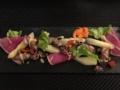 ホワイトアスパラとホタルイカのサラダ