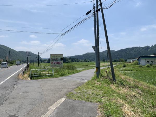 仲道バス停分岐