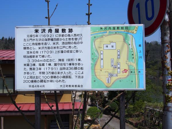 米沢舟屋敷跡