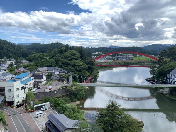 円蔵寺 只見川