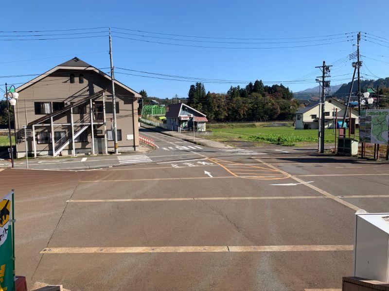 津南駅からの景色