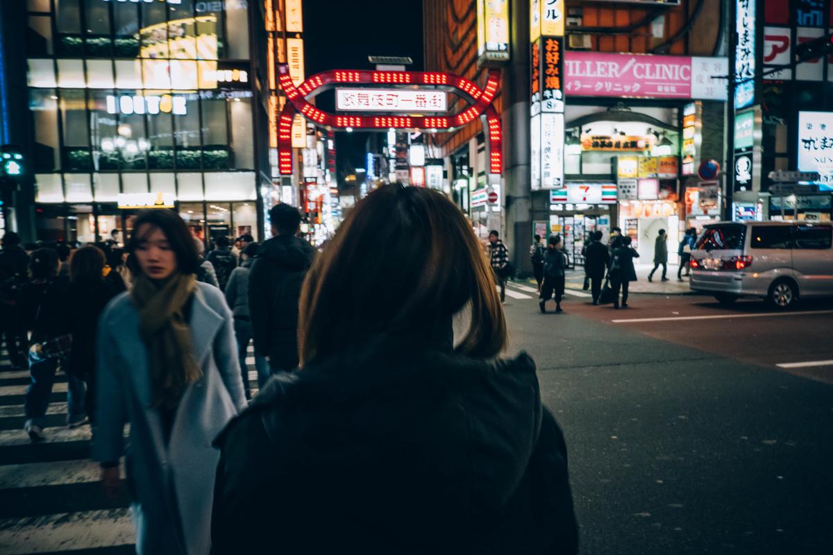 写真:歌舞伎町の入り口