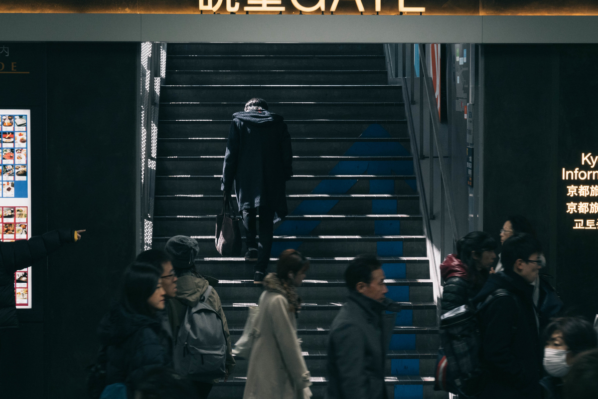 写真:京都駅の階段