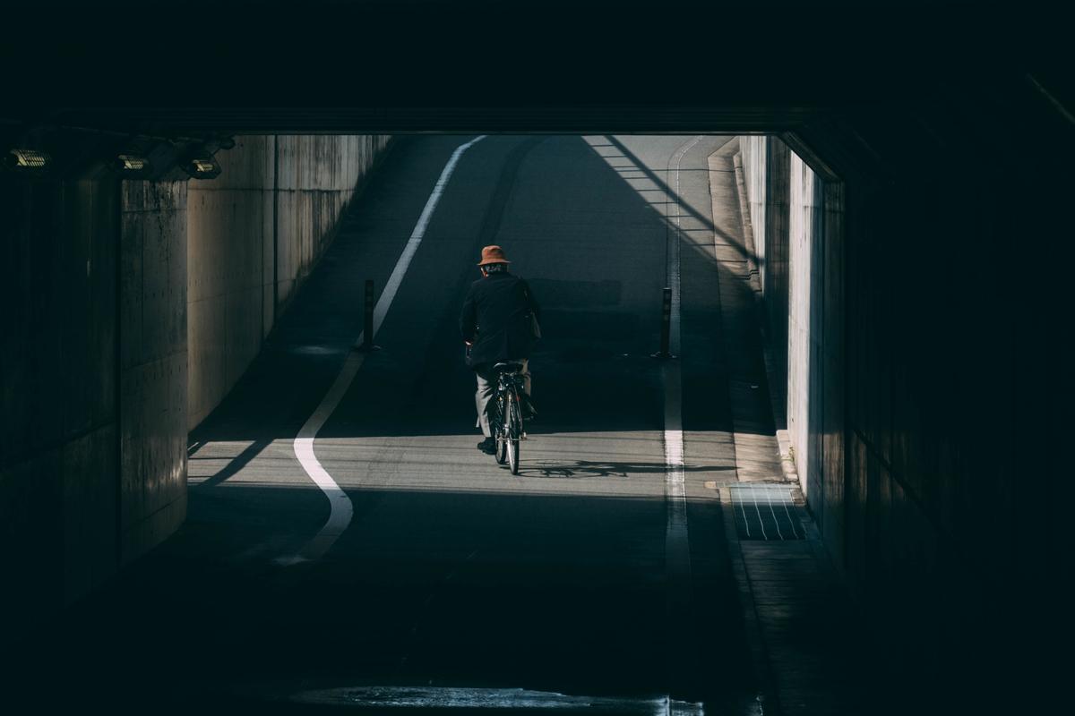 写真:京都駅付近の高架下