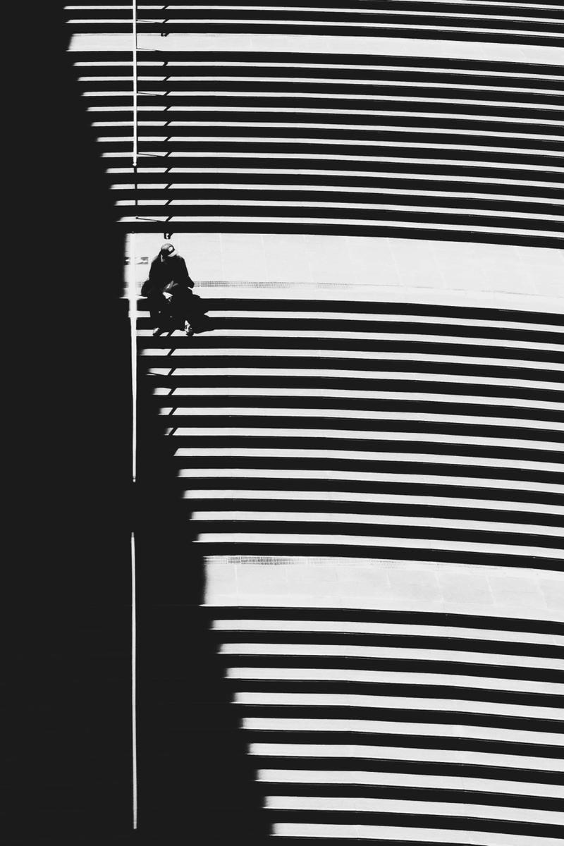 写真:写真展で展示した大階段の写真